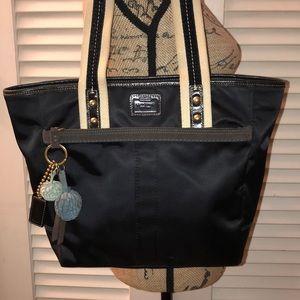 Coach Black Sateen Hampton Shoulder Bag